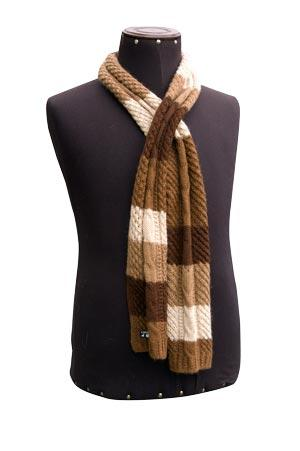 Chunky striped scarf