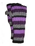 Striped-Fingerless Gloves
